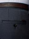 Брюки-чиносы из фактурной ткани oodji #SECTION_NAME# (синий), 2L150132M/47757N/7912O - вид 5