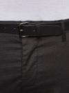Брюки-чиносы хлопковые с ремнем oodji #SECTION_NAME# (серый), 2L150076M/44420N/2529G - вид 4