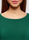 Платье трикотажное облегающего силуэта oodji #SECTION_NAME# (зеленый), 14001183B/46148/6E00N - вид 4