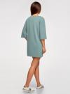 Платье прямого силуэта со спущенной проймой oodji #SECTION_NAME# (зеленый), 14008028/48940/6C00N - вид 3