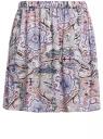 Юбка вискозная с принтом oodji #SECTION_NAME# (розовый), 11606036/33573/4B75E