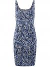 Платье-майка трикотажное oodji #SECTION_NAME# (синий), 14015007-3B/37809/7512F