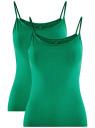 Майка женская (упаковка 2 шт) oodji #SECTION_NAME# (зеленый), 14305023T2/46147/6D00N