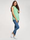 Топ вискозный с нагрудным карманом oodji для женщины (зеленый), 11411108B/26346/6500N - вид 6