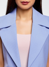Жилет удлиненный с декоративными пуговицами oodji #SECTION_NAME# (фиолетовый), 22305001-3/46415/7500N - вид 4