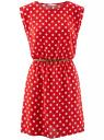 Платье принтованное из вискозы oodji #SECTION_NAME# (красный), 11910073-2/45470/4512D