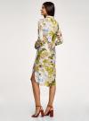 Платье вискозное на пуговицах oodji для женщины (разноцветный), 21900318/42127/1019F - вид 3