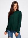 Блузка вискозная А-образного силуэта oodji #SECTION_NAME# (зеленый), 21411113B/26346/6900N - вид 2