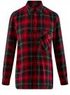 Блузка из вискозы с вышивкой на спине oodji #SECTION_NAME# (красный), 11411171/46974/2945C