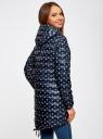 Куртка удлиненная с асимметричным низом oodji #SECTION_NAME# (синий), 10203056-2B/42257/7930A - вид 3