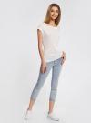 Капри джинсовые с потертостями oodji #SECTION_NAME# (синий), 12105016/45253/7000W - вид 6