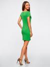Платье трикотажное с вырезом-лодочкой oodji #SECTION_NAME# (зеленый), 14001117-2B/16564/6A00N - вид 3