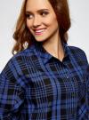Рубашка клетчатая свободного силуэта с нагрудным карманом oodji #SECTION_NAME# (синий), 11400432-1/36218/2975C - вид 4