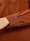 Блузка базовая из вискозы с карманами oodji #SECTION_NAME# (коричневый), 11400355-4/26346/3900N - вид 5