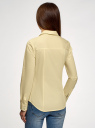 Рубашка приталенная с нагрудными карманами oodji для женщины (желтый), 11403222-3/42468/5000N