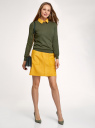 Джемпер с длинным рукавом и круглым вырезом oodji для женщины (зеленый), 73812659-6B/45755/6600M