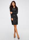 Платье трикотажное с этническим принтом oodji #SECTION_NAME# (черный), 24001070-4/15640/2923E - вид 6