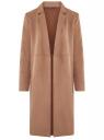 Пальто из искусственной замши oodji для женщины (бежевый), 18R03004/47301/3500N