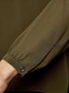 Блузка из шифона свободного силуэта с завязками oodji #SECTION_NAME# (зеленый), 21400402/17358/6800N - вид 5