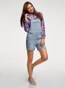 Комбинезон джинсовый oodji для женщины (синий), 13109060-1/46734/7000W
