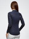 Рубашка приталенная с нагрудными карманами oodji #SECTION_NAME# (синий), 11403222-3/42468/7900N - вид 3