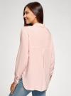 Блузка базовая из вискозы с нагрудными карманами oodji #SECTION_NAME# (розовый), 11411127B/42540/4000N - вид 3