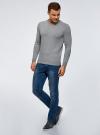 Пуловер базовый с V-образным вырезом oodji #SECTION_NAME# (серый), 4B212007M-1/34390N/2301M - вид 6