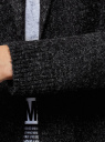 Кардиган с капюшоном без застежки oodji #SECTION_NAME# (черный), 63207187-1/45716/2912M - вид 5