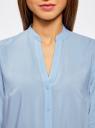 Блузка базовая из вискозы oodji #SECTION_NAME# (синий), 21412129-1/24681/7000N - вид 4