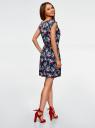 Платье вискозное без рукавов oodji #SECTION_NAME# (синий), 11910073B/26346/7941F - вид 3