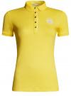 Поло с металлическими пуговицами и вышивкой на груди oodji #SECTION_NAME# (желтый), 29311001/39813N/5100N