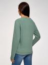 Свитшот хлопковый с принтом oodji для женщины (зеленый), 14808015-33/46151/6C23P