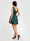 Платье из атласной ткани oodji #SECTION_NAME# (зеленый), 11902149/24393/6C00N - вид 3