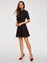 Платье с декоративной отделкой горловины и вставкой из кружева oodji #SECTION_NAME# (черный), 11913033/42250/2900N - вид 6