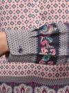 Блузка прямого силуэта с V-образным вырезом oodji #SECTION_NAME# (розовый), 21400394-3/24681/4074E - вид 4