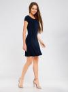 Платье трикотажное с воланами oodji #SECTION_NAME# (синий), 14011017/46384/7900N - вид 6