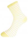 Комплект хлопковых носков в полоску (3 пары) oodji #SECTION_NAME# (разноцветный), 57102813T3/48022/17 - вид 4