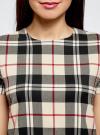 Платье прямого силуэта с декоративной вставкой oodji #SECTION_NAME# (бежевый), 11911013-1/45879/2933C - вид 4