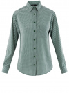 Блузка прямого силуэта с нагрудным карманом oodji #SECTION_NAME# (зеленый), 11411134B/46123/6E12G