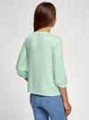 Блузка прямого силуэта с вышивкой oodji #SECTION_NAME# (зеленый), 11411094/45403/6500N - вид 3