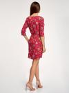 Платье вискозное с рукавом 3/4 oodji #SECTION_NAME# (красный), 11901153-1B/42540/4555F - вид 3