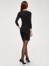 Платье базовое с рукавом 3/4 oodji для женщины (черный), 63912222-1B/46244/2900N - вид 3