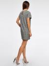 Платье прямого силуэта с рукавом реглан oodji #SECTION_NAME# (синий), 11914003/46048/7912E - вид 3