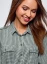 Блузка базовая из вискозы с нагрудными карманами oodji #SECTION_NAME# (зеленый), 11411127B/42540/6930G - вид 4