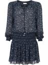 Платье принтованное из шифона oodji для женщины (синий), 11913022/17358/7910E