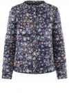 Куртка стеганая с круглым вырезом oodji для женщины (синий), 10204040-1B/42257/7919F