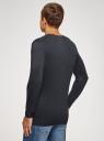 Пуловер удлиненный базовый oodji #SECTION_NAME# (синий), 4B212008M/49683N/7900N - вид 3