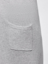 Кардиган удлиненный без застежки oodji #SECTION_NAME# (серый), 63212505B/18239/2000M - вид 5