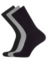 Комплект высоких носков (3 пары) oodji для мужчины (разноцветный), 7B233001T3/47469/1900N