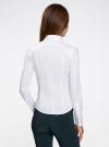 Рубашка хлопковая с манишкой oodji #SECTION_NAME# (белый), 21405133/42083/1000N - вид 3